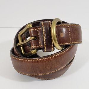 Tommy Hilfiger Brown Leather Belt Size 34
